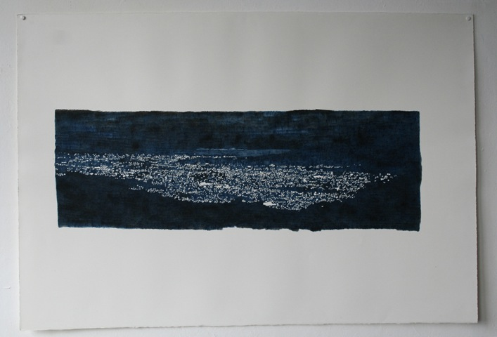 Kyoto, 2008, Acrylic on paper, paper: 70.5 x 105cm