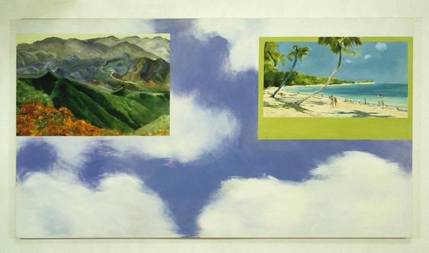 Great Wall / Beach Scene, 1989, Oil on canvas, 152cm x 274cm