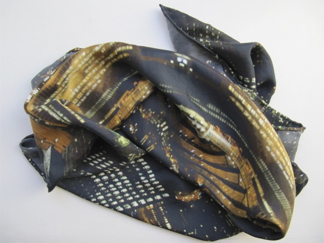 Scarf project, scarves and accompanying photographs,  ongoing from 2008