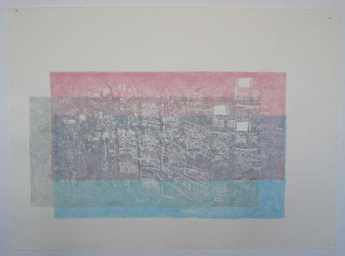 Toronto, 2006, Acrylic on paper, paper: 70.5cm x 105cm