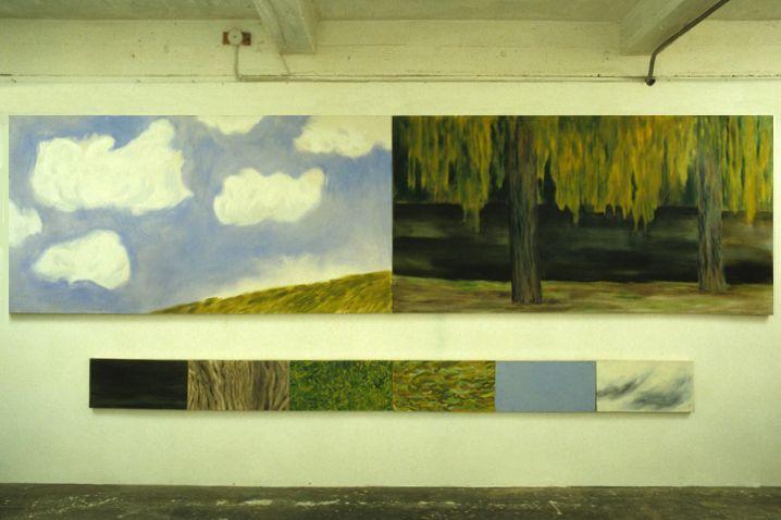 Untitled (colour separation), 1985, Oil on canvas (8 panels), 180cm x 472cm altogether