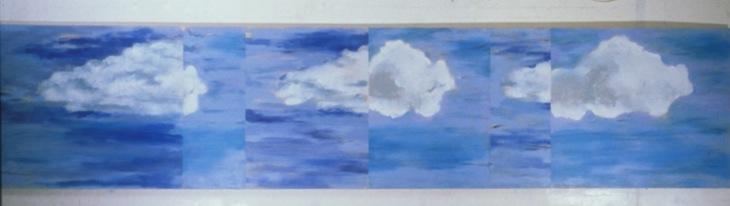 Landscape (two clouds), 1988, Oil on canvas, 122cm x 549cm