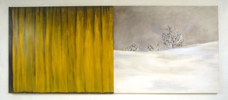Yellow Curtain, 1986, Oil on canvas, 152cm x 366cm